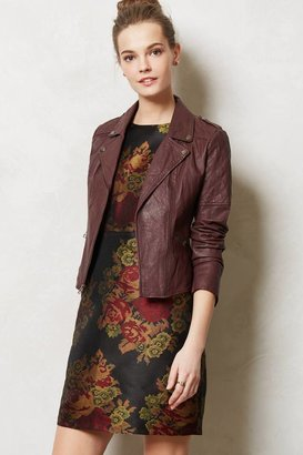 Anthropologie Quilted Leather Moto Jacket