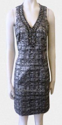 Laundry by Shelli Segal Silver Plaid Sleeveless Day Dresses from