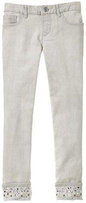 Gap Super skinny rhinestone jeans (gray wash)
