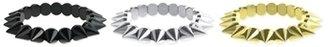 Z Designs Metallic Spike Stretch Bracelet
