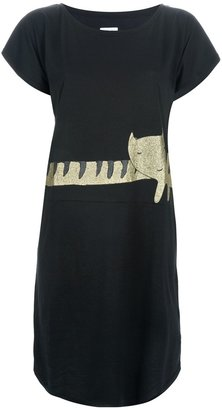 Tsumori Chisato Cats By illustrated cat print dress