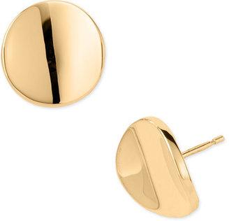 Charles Garnier 18Karat Gold 13mm Round Wave Earrings