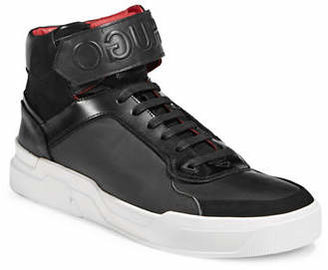 HUGO Symmetric High-Top Sneakers
