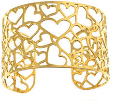 Kris Nations Gold Heart Cluster Cuff