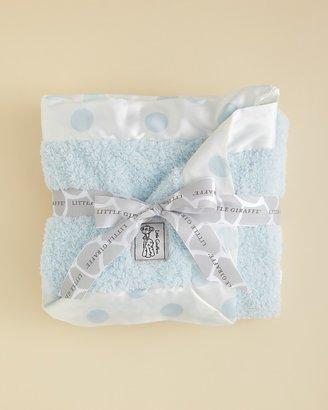 Little Giraffe Infant Boys' Chenille Polkadot Blanket