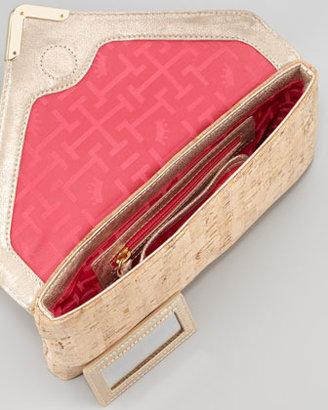 Elaine Turner Designs Bella Cork Envelope Clutch Bag, Natural