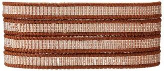 Chan Luu 32 Seed Bead Copper Lined Crystal/Natural Brown Bracelet (Copper Lined Crystal/Natural Brown) - Jewelry