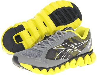 Reebok ZigLite Rush (Athletic/Nubuck/Gravel/White/Flat Grey/Solar Green) - Footwear