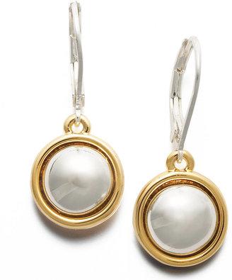 Lauren Ralph Lauren Two Tone Circle Drop Earrings