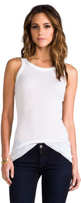 James Perse Cashmere Rib Extra Long Skinny Tank
