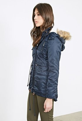 Forever 21 Faux Shearling Parka
