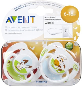 Avent Naturally Animal Pacifier - 6 - 18 Months - 2 Pk