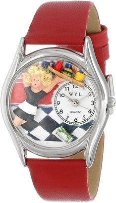 Whimsical Watches Women's S0630013 Waitress Red Leather Watch