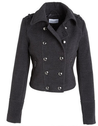 Delia's Military Cropped Wool Coat
