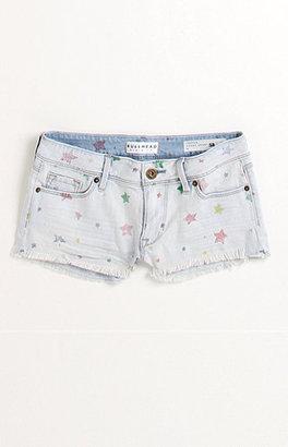 Bullhead Denim Co Frey Hem Print Star Shorts