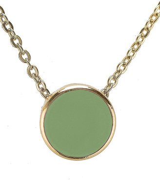 American Apparel Spring Green Circle Necklace