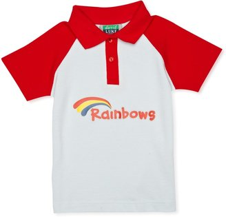 Rainbow Polo Girl's Shirt Red/Sky X-Small