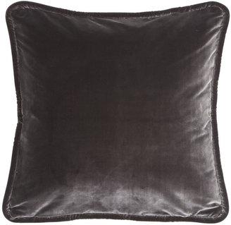 Ethan Allen Graphite Silk Velvet Pillow