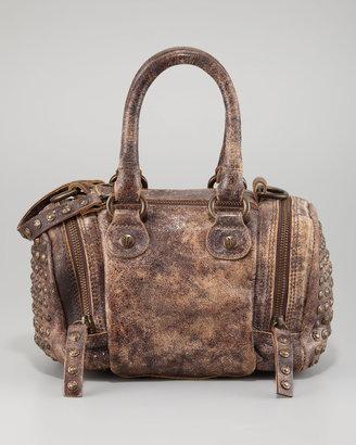 Frye Brooke Small Satchel Crossbody Bag, Chocolate