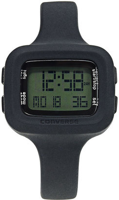 Converse Watch, Women's Digital Understatement Black Silicone Strap 29x36mm VR025-001