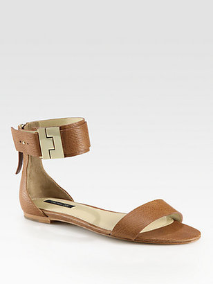 Rachel Zoe Gladys Leather Ankle Strap Sandals