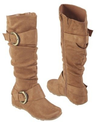 Womens Anne Michelle by Journee Slouch Boots with Buckles