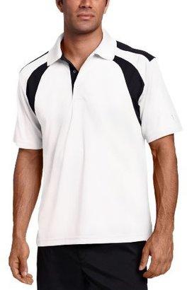 PGA TOUR Men's Short Sleeve Chest Shoulder Color Block Polo Shirt, Large