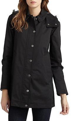 Burberry Hooded A-Line Raincoat