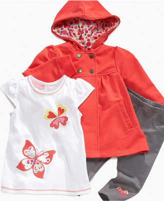 Kids Headquarters Baby Set, Baby Girls 3-Piece Tee, Pants and Jacket Set