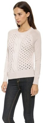 L'Agence Long Sleeve Braid Sweater