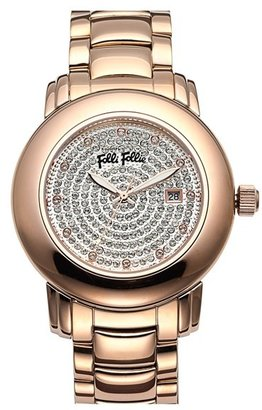 Folli Follie 'Urban Spin' Crystal Dial Bracelet Watch, 43mm