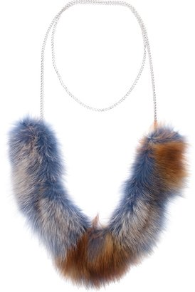 Laura B fox fur necklace