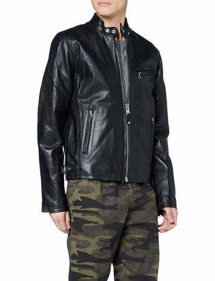 Schott NYC Men's Lc940D Cafe Racer Leather Biker Jacket
