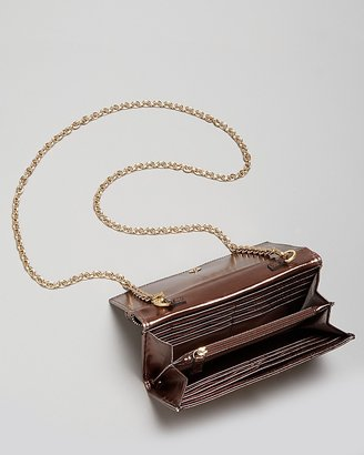 Zac Posen Crossbody - Shirley Mirror Metallic Wallet On A Chain