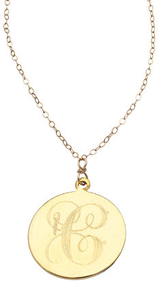 Robyn Rhodes Gold Script Initial Pendant Necklace