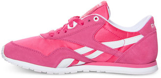 Finish Line Reebok Women's Classic Nylon Slim Monocolor Casual Sneakers from