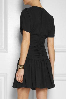 Miu Miu Ruched stretch-crepe mini dress