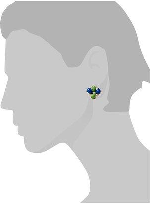 Pim + Larkin Blue Green Cabochon Studs Earring