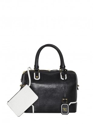 Alice + Olivia Olivia Lizard Embossed Leather Bag