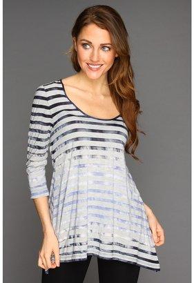 Calvin Klein Jeans Shadow Stripe Tie Dye Pullover (Blue Ice) - Apparel