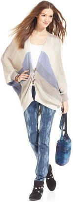 Calvin Klein Jeans Cardigan, Long-Sleeve Striped V-Neck