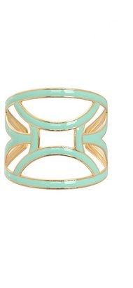 Gold & Mint Geometric Cuff