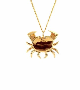 Origami Jewellery Crab Necklace Gold