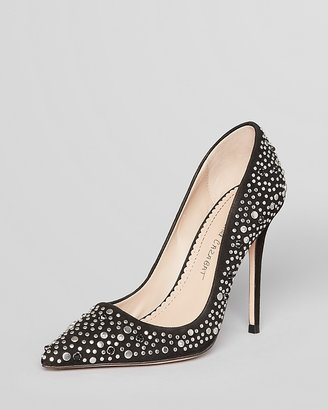 Jean-Michel Cazabat Pointed Toe Pumps - Elle Studded High Heel