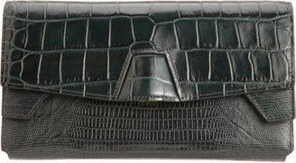 Alexander Wang Croc-Stamped Trifold Clutch