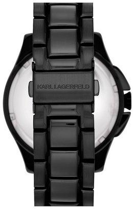 Karl Lagerfeld '7' Faceted Bezel Bracelet Watch, 44mm (Nordstrom Online Exclusive)