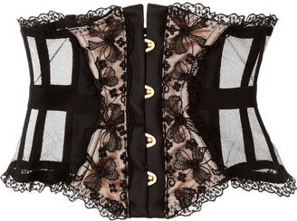 Agent Provocateur Petronella lace and satin waspie