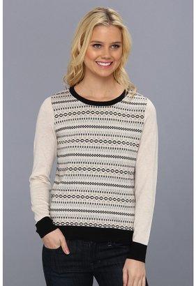 Kensie KS0K5366 Sweater (Heather Vanilla Combo) - Apparel