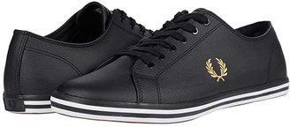 Fred Perry Kingston Leather (Black/1964 Gold) Men's Lace up casual Shoes