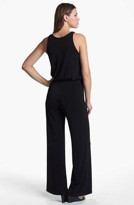 Karen Kane Palazzo Jumpsuit Black Large